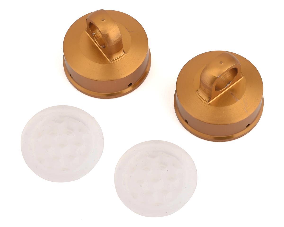 Ruddog Aluminum Shock Cap w/Honeycomb Membrane (2) (Team Associated RC8T3.1)