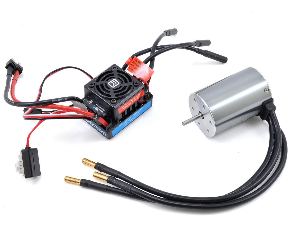 Reaktor Brushless 50A ESC & 3000kV 4 Pole Motor Combo by Radient