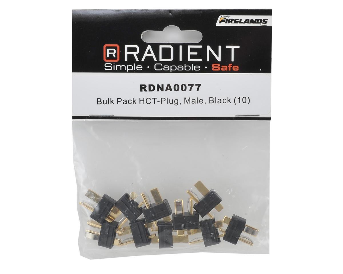 Radient Bulk Pack HCT T-Style Plug (Black) (10) (Male)