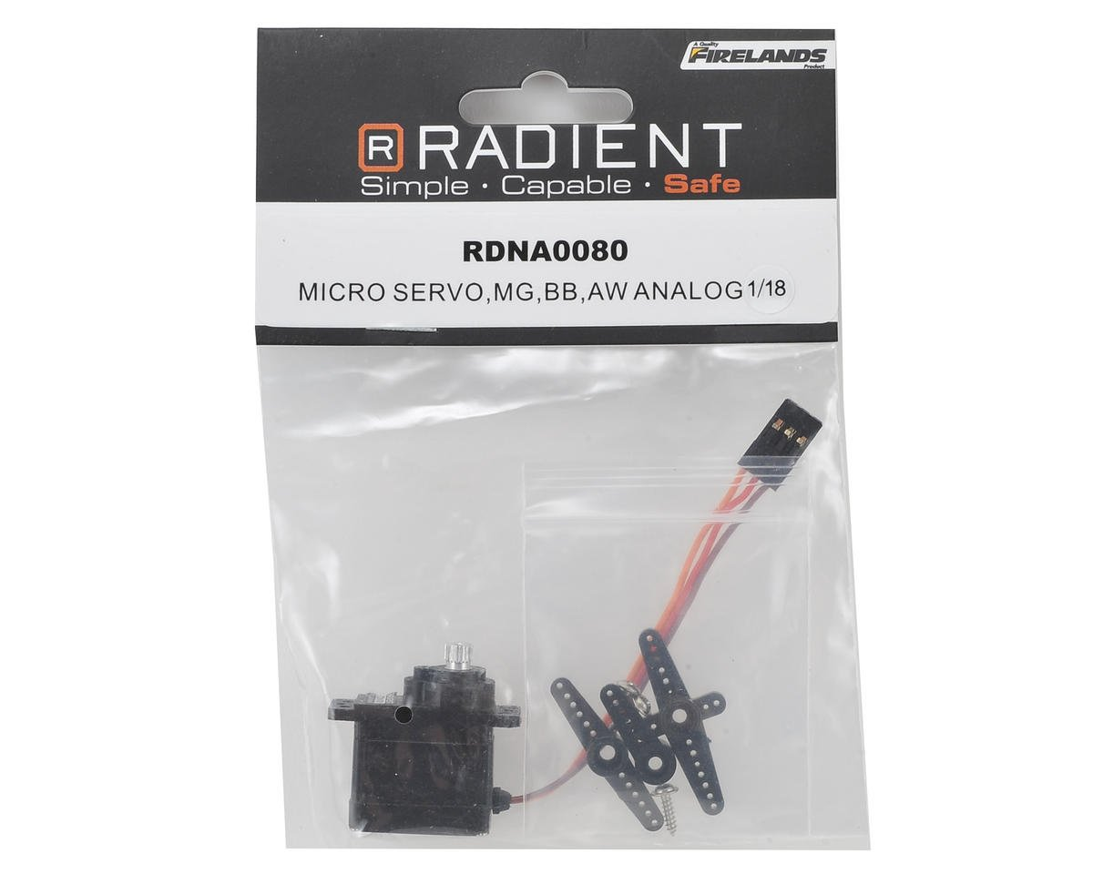 Radient RS-SM125-MG 13g Micro 1/18 Analog Metal Gear Servo