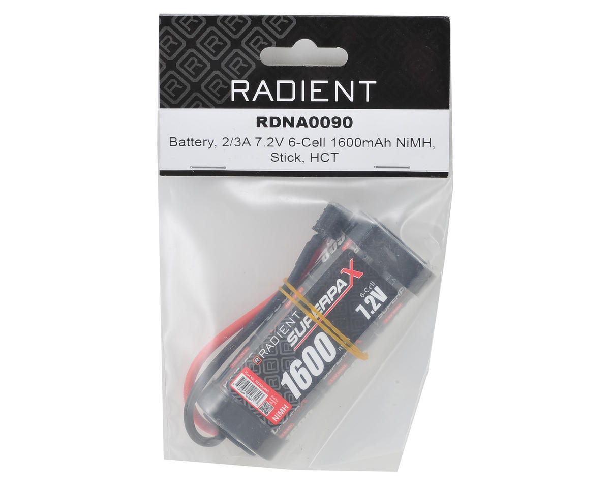 Radient 2/3A 6-Cell NiMH Stick Battery (7.2V/1600mAh)