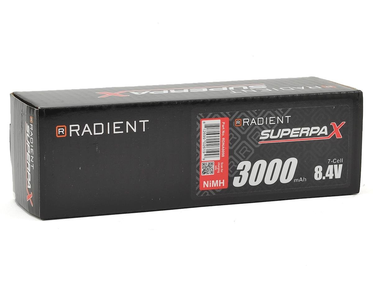 Radient 7-Cell Hump NiMH Battery Pack w/T-Style Connector (8.4V/3000mAh)