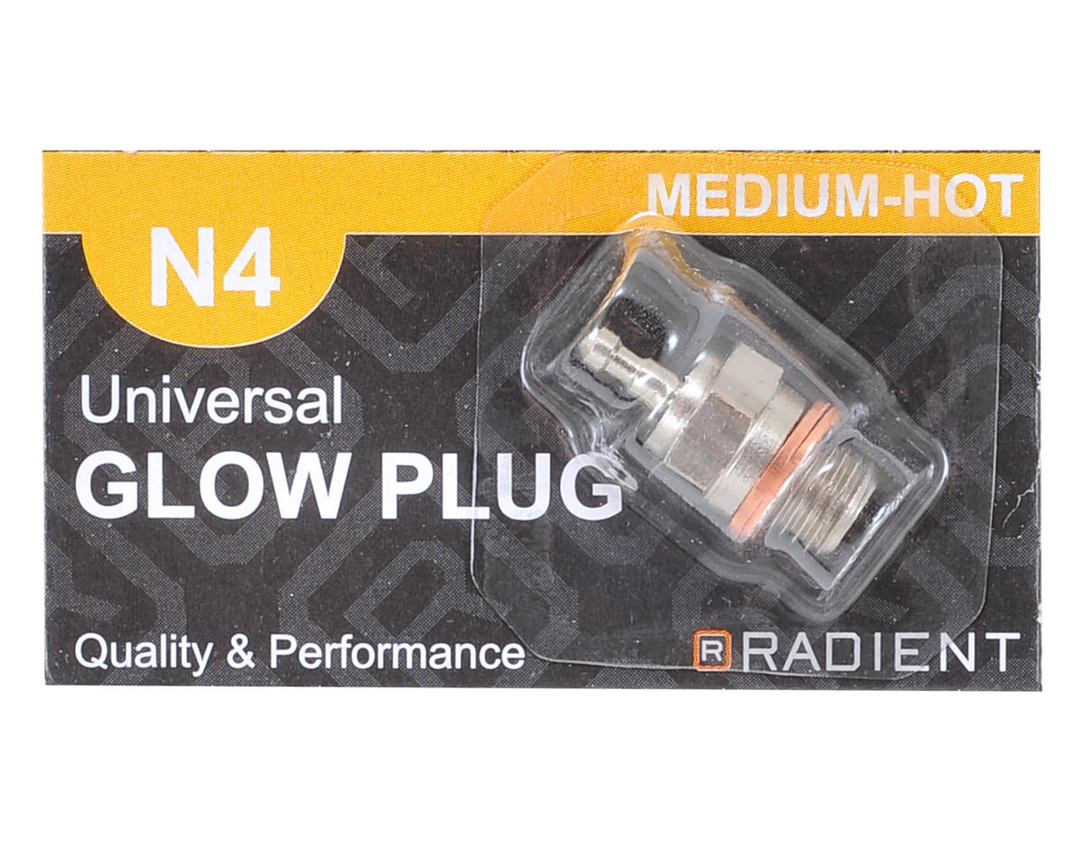 Radient 5.5mm Long Body N4 Universal Glow Plug (Medium-Hot)