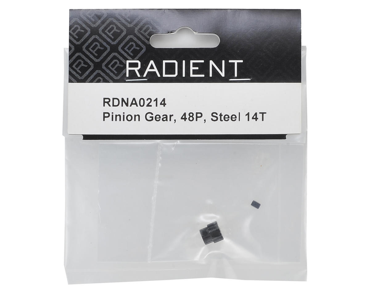 Radient 48P Steel Pinion Gear (3.17mm Bore) (14T)