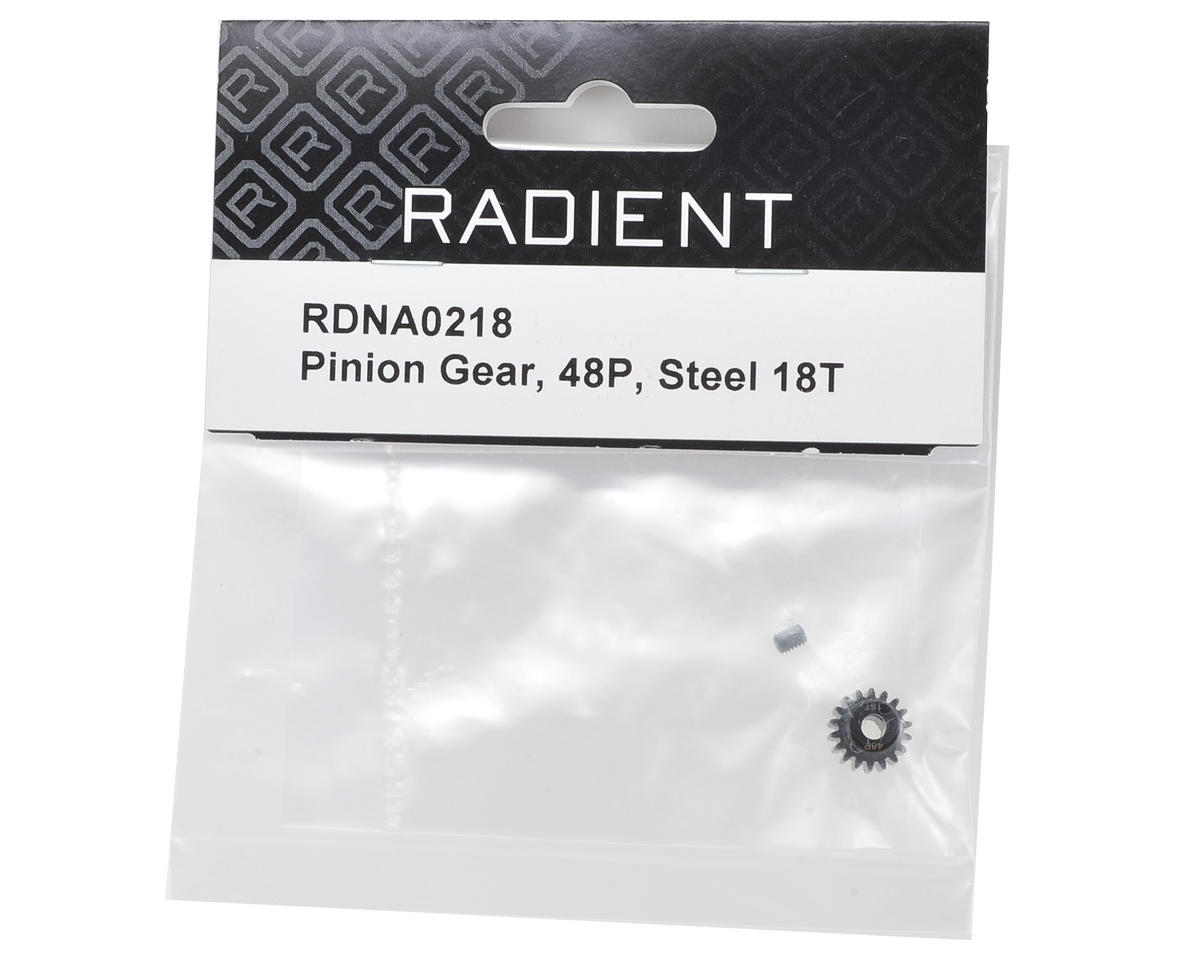 Radient 48P Steel Pinion Gear (3.17mm Bore) (18T)