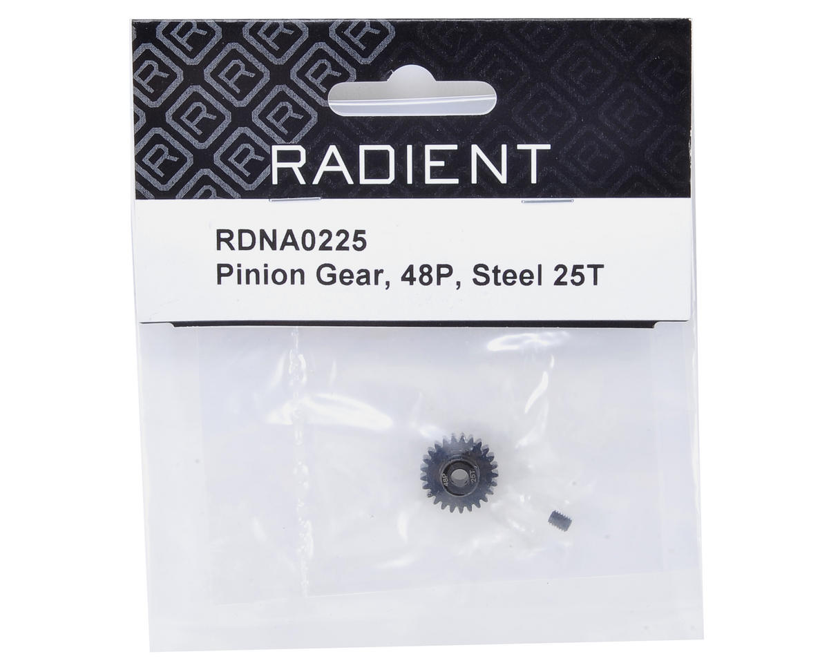 48P Steel Pinion Gear (3.17mm Bore) (25T) by Radient