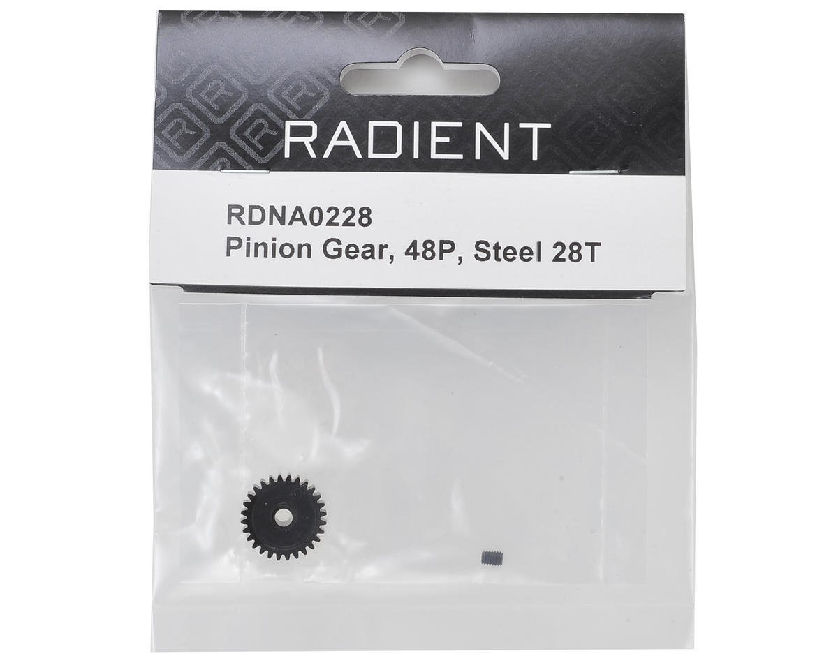 Radient 48P Steel Pinion Gear (3.17mm Bore) (28T)