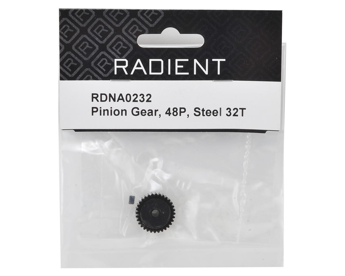 Radient 48P Steel Pinion Gear (3.17mm Bore) (32T)