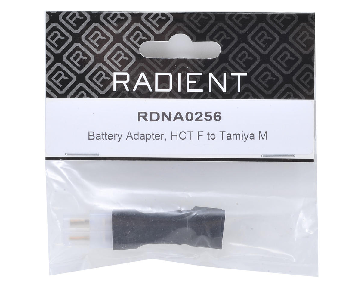 Radient Short Battery Adapter (HCT T-Style Female to Tamiya Male)
