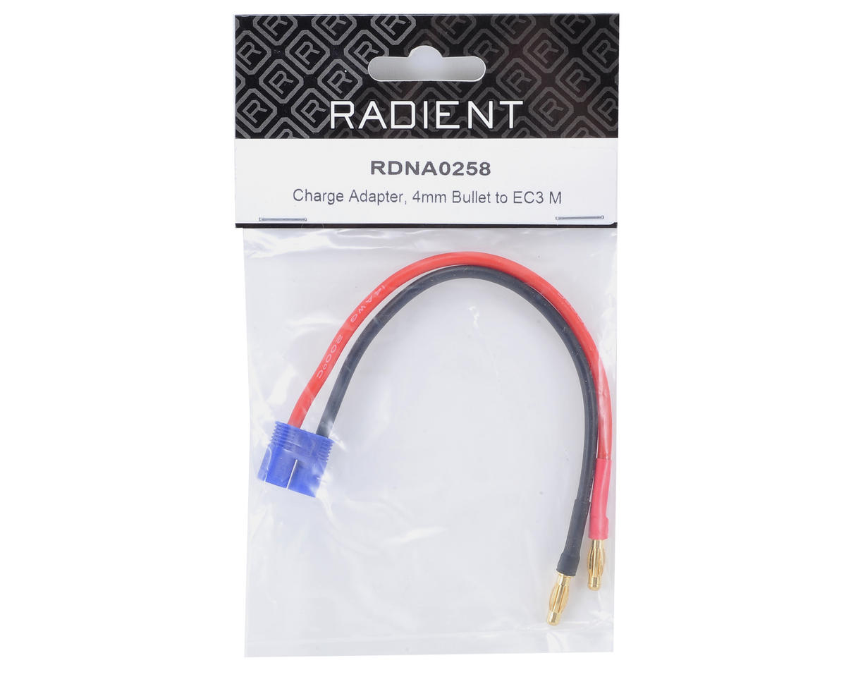 Charge Adapter (4mm Bullet to EC3 Male) by Radient