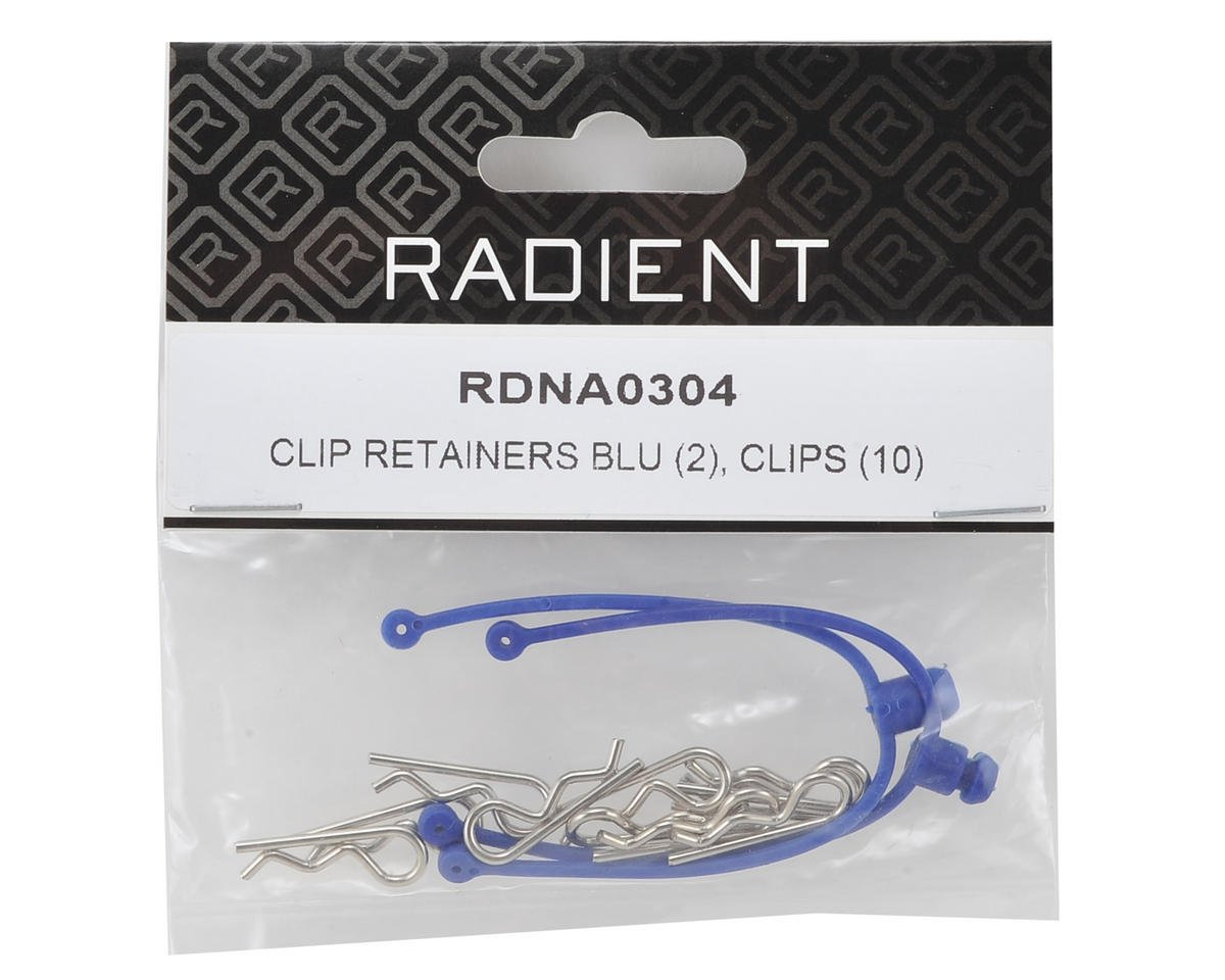 Radient Body Clip Retainer w/Clips (Blue) (2)