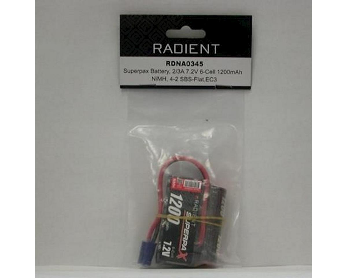 Radient 6-Cell NiMH SBS Superpax Battery Pack w/EC3 Connector (7.2V/1200mAh)