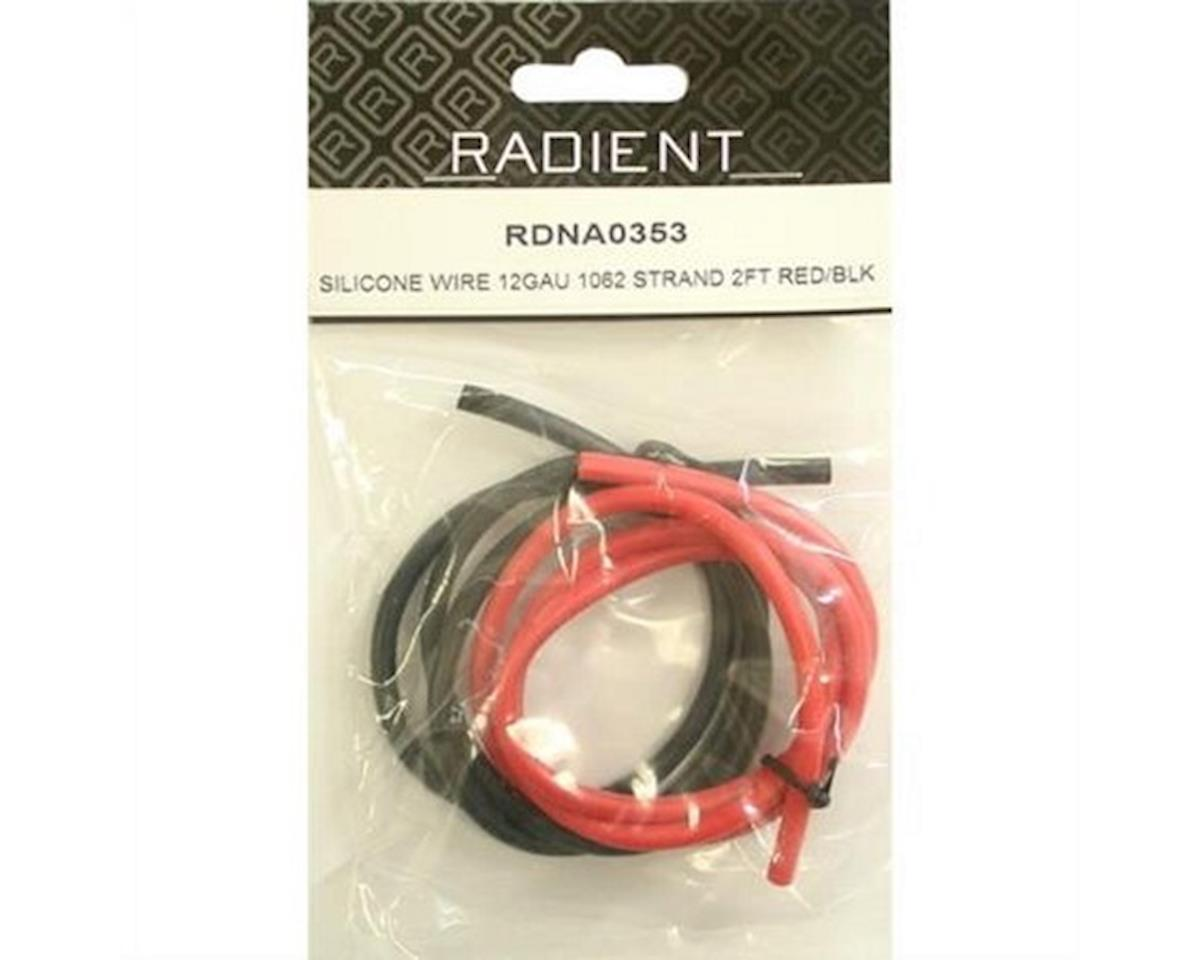 Radient Siliconewire 12G 1062Strand2Ft Red/Black