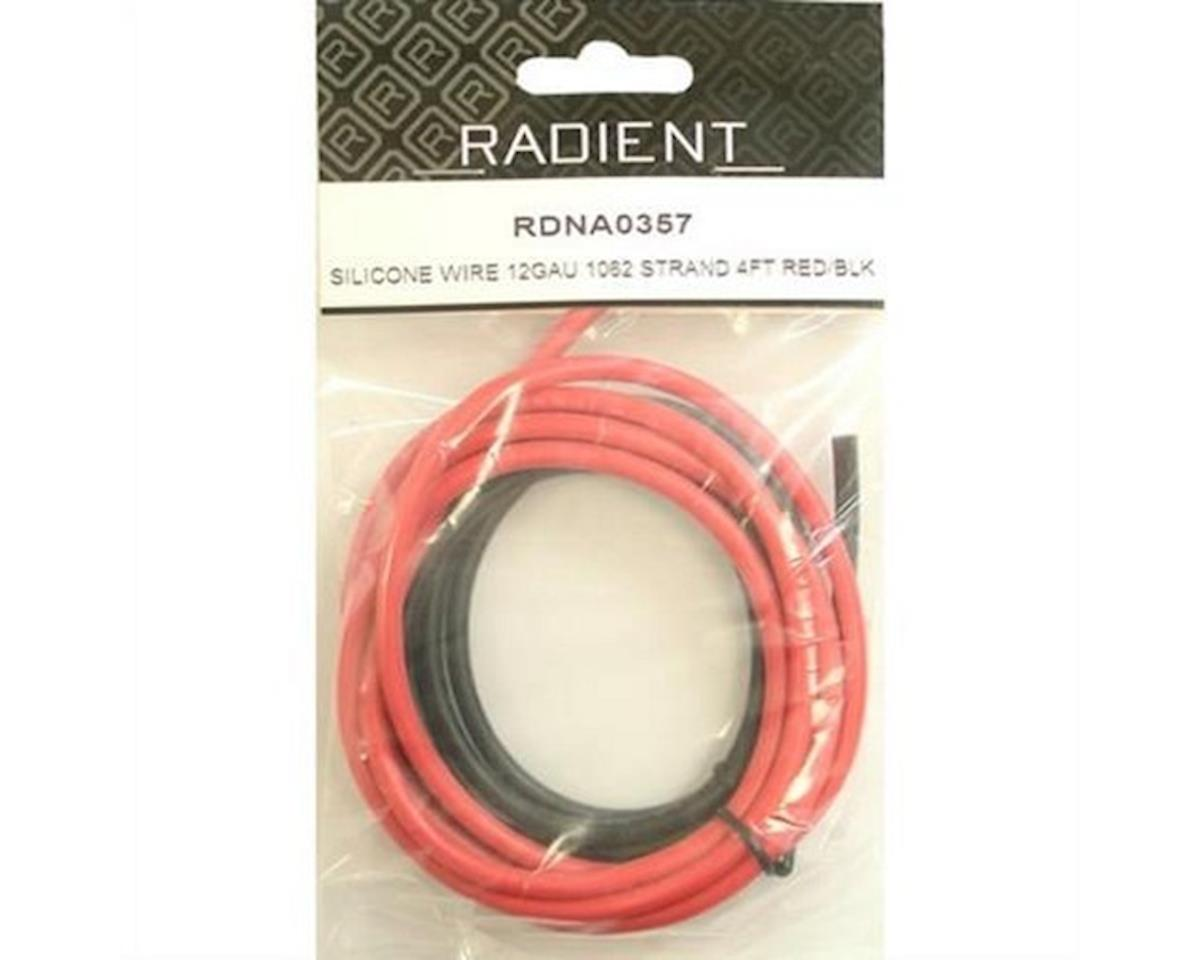Siliconewire12G 1062Strand 4Ft Red/Black by Radient