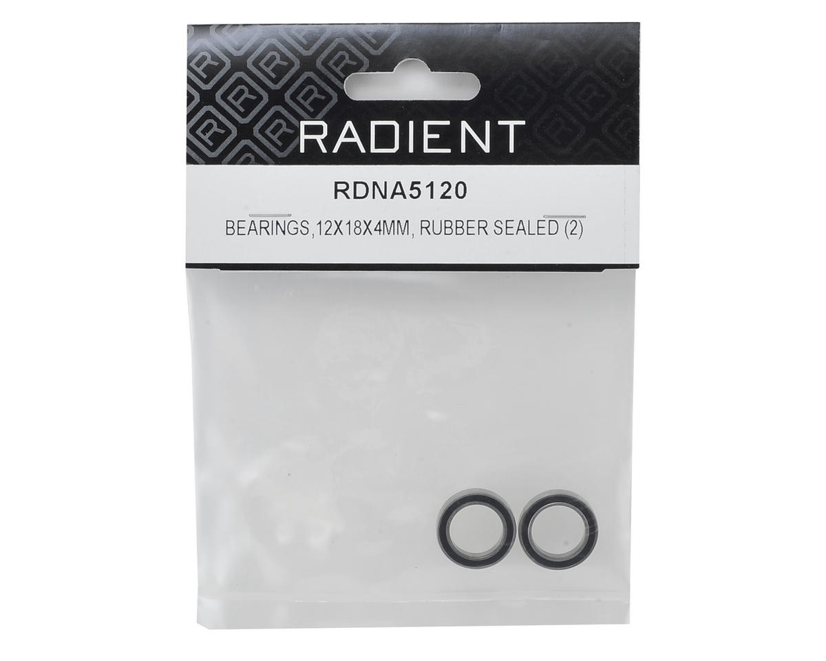 Radient 12x18x4mm Rubber Sealed Bearings (2)