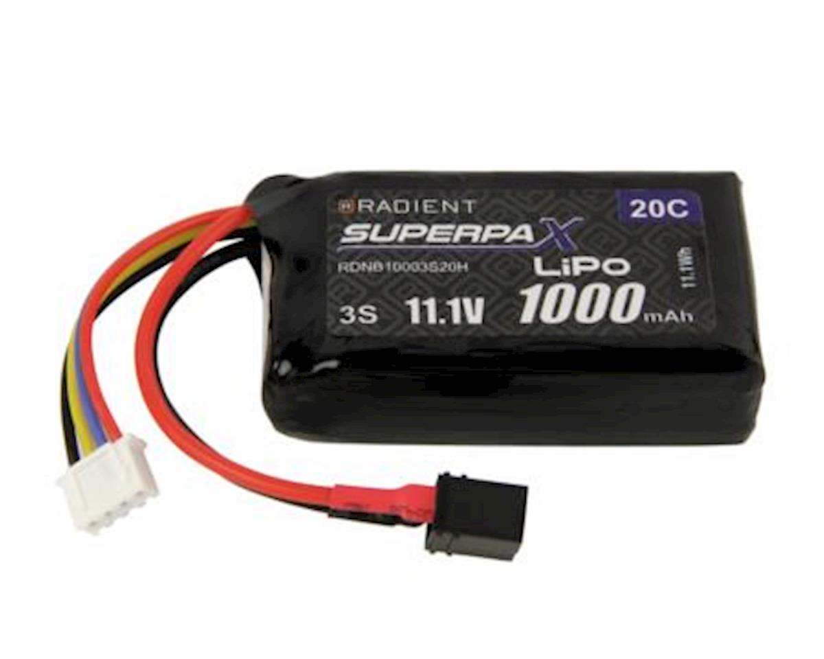 Radient 3S 20C LiPo Battery w/T-Style Connector (11.1V/1000mAh)