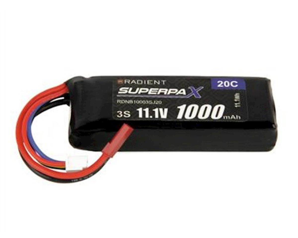Radient 3S 20C LiPo Receiver Battery Pack (11.1V/1000mAh)