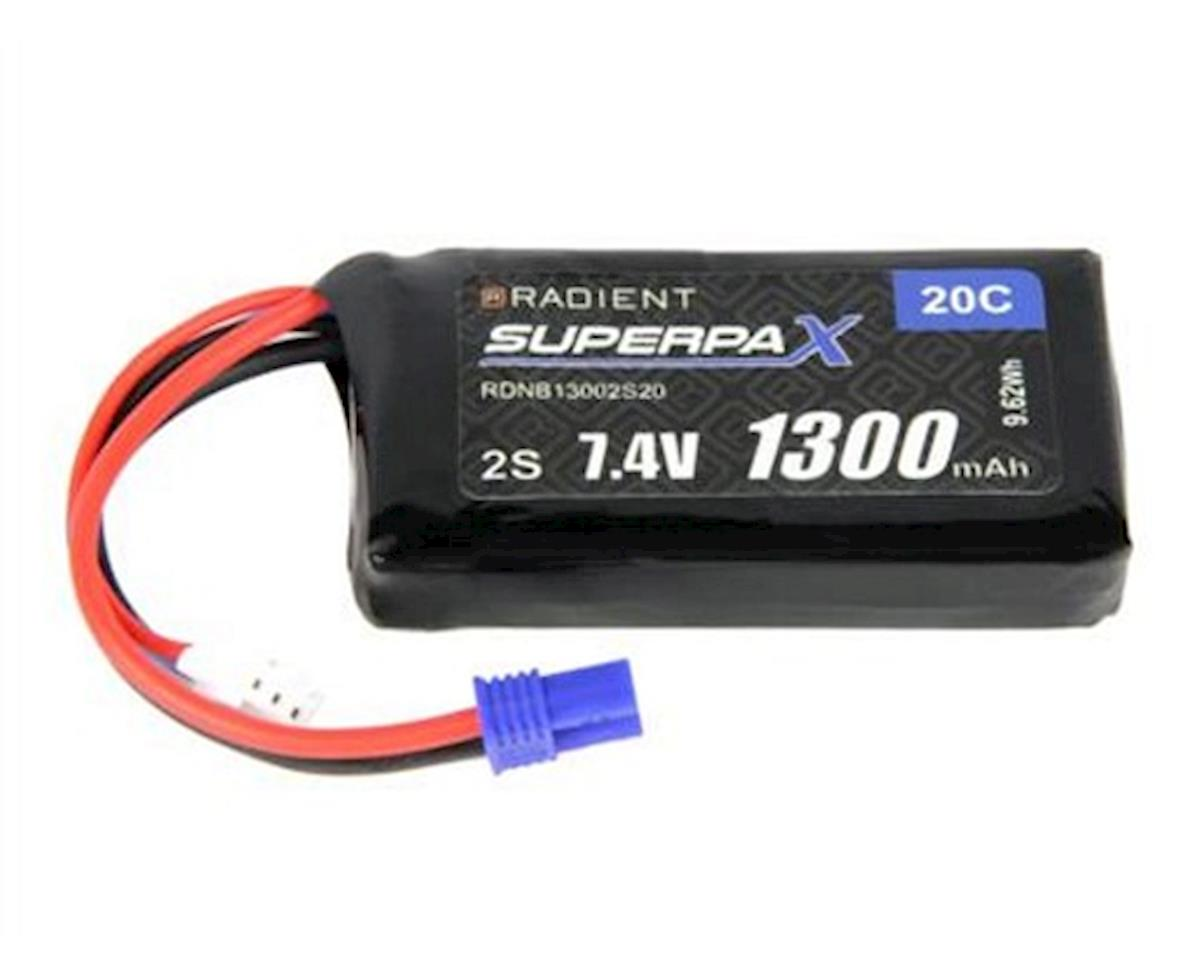 Radient 2S 20C LiPo Battery w/EC2 Connector (7.4V/1300mAh)