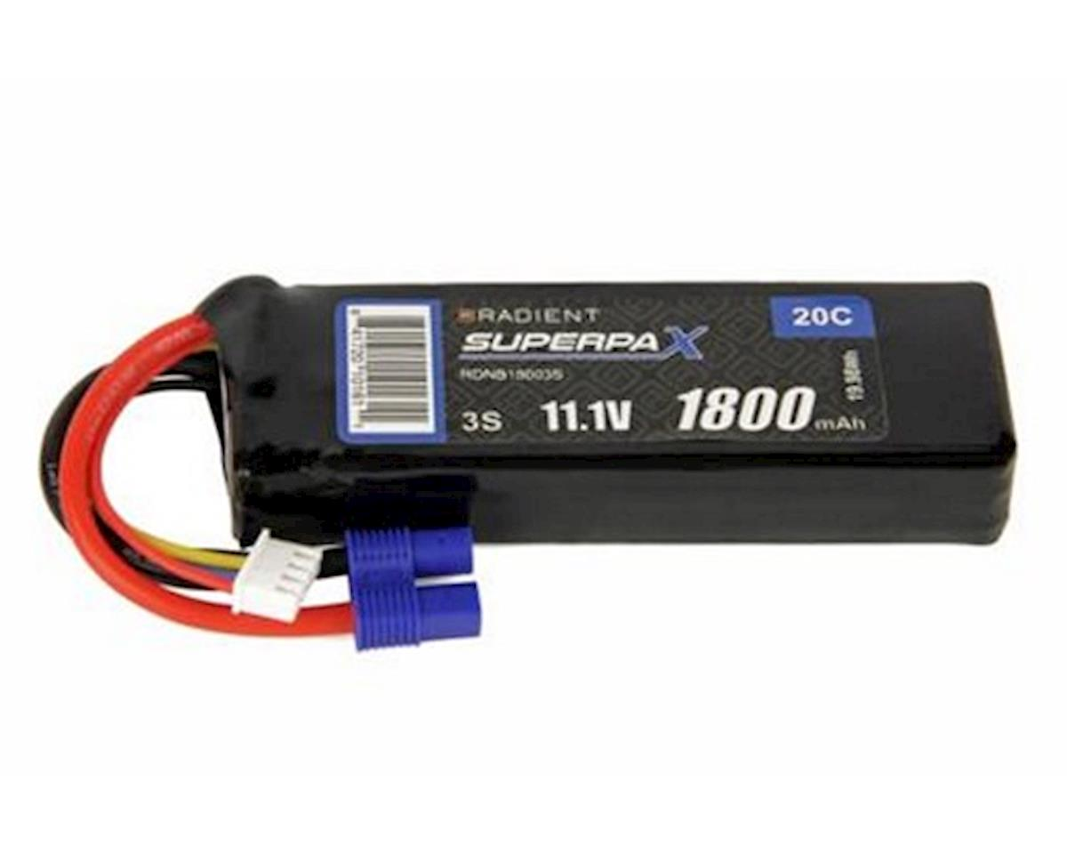 Radient 3S 20C LiPo Battery w/EC3 Connector (11.1V/1800mAh)