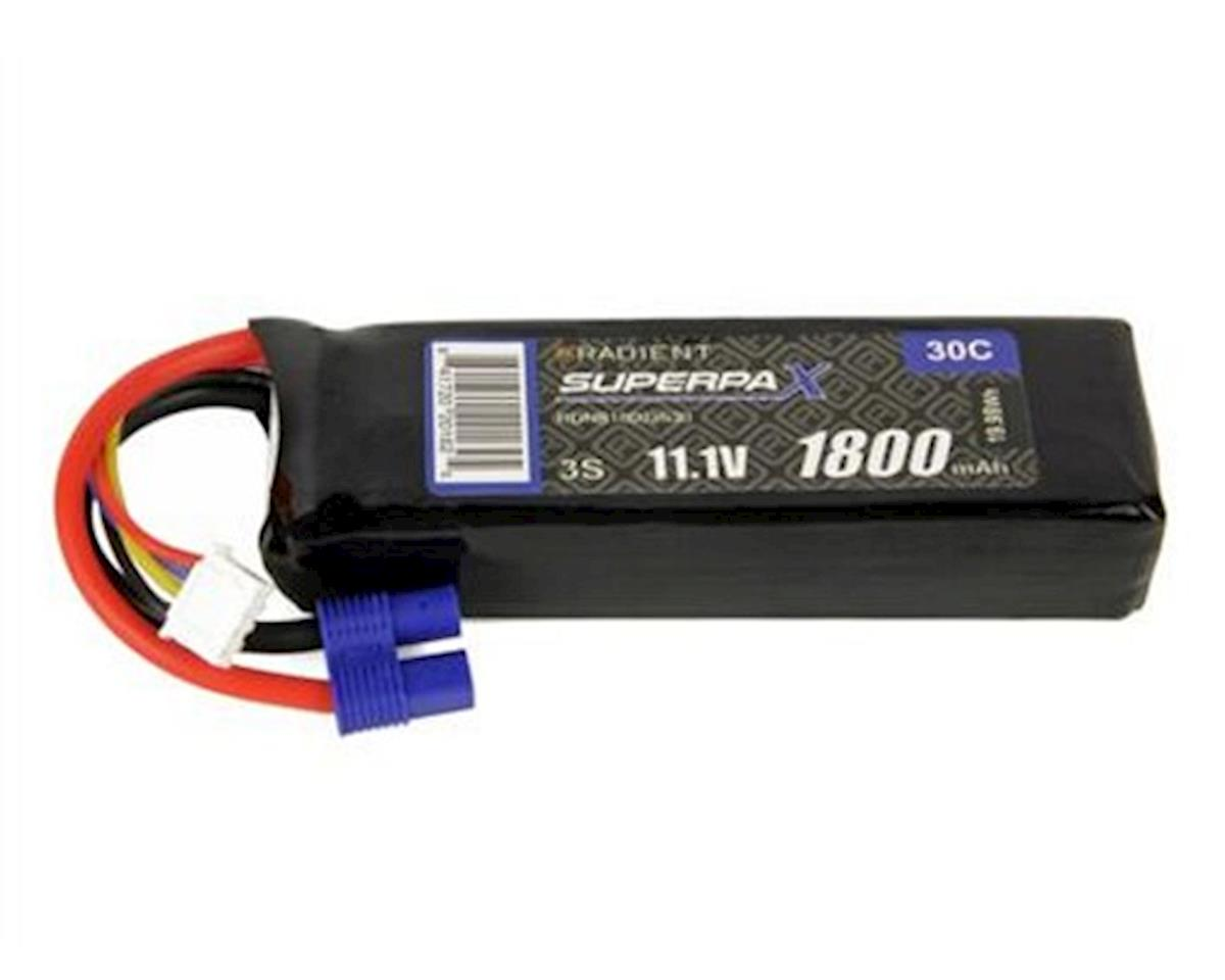 Radient 3S 30C LiPo Battery w/EC3 Connector (11.1V/1800mAh)