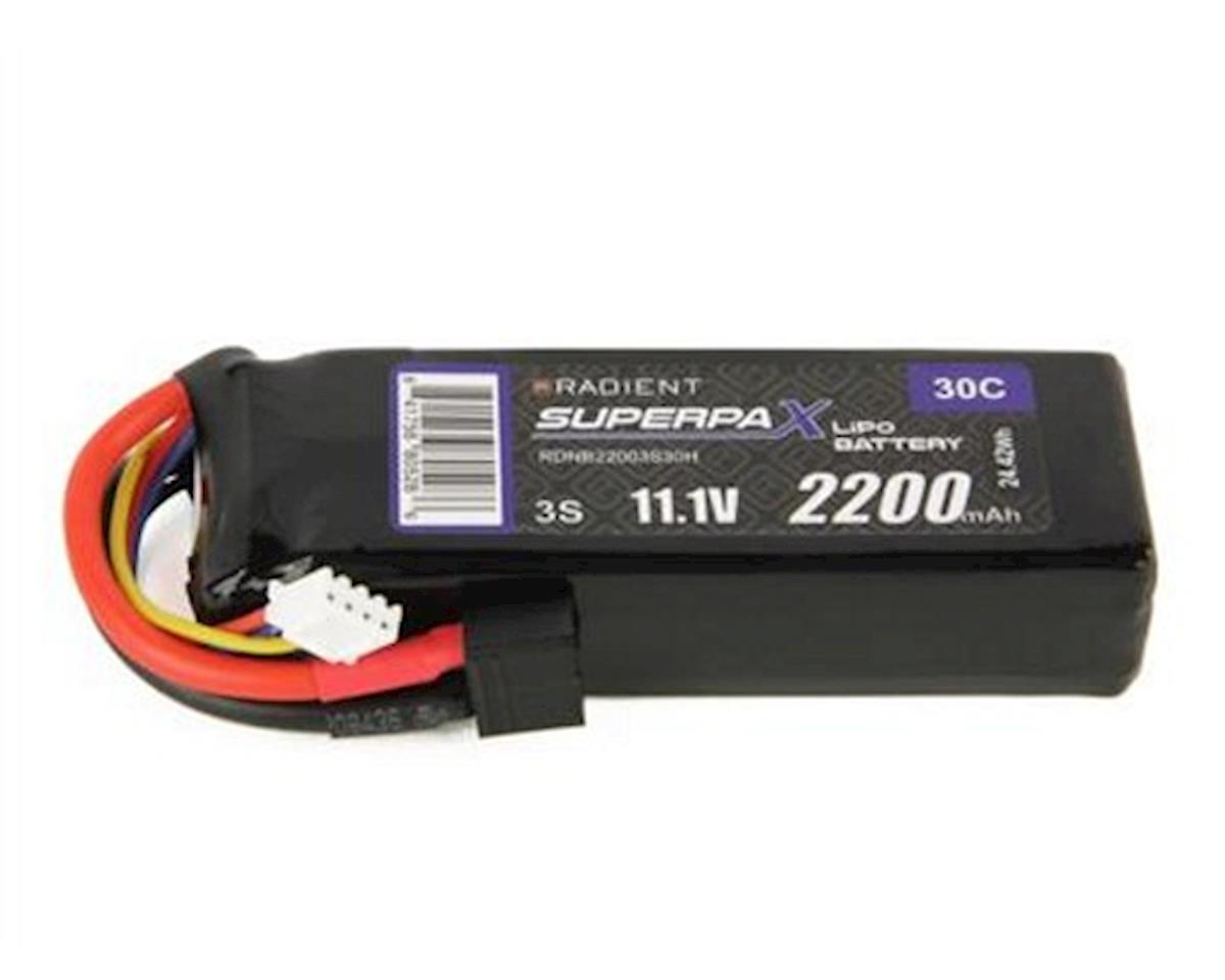 3S 30C LiPo Battery w/T-Style Connector (11.1V/2200mAh) by Radient