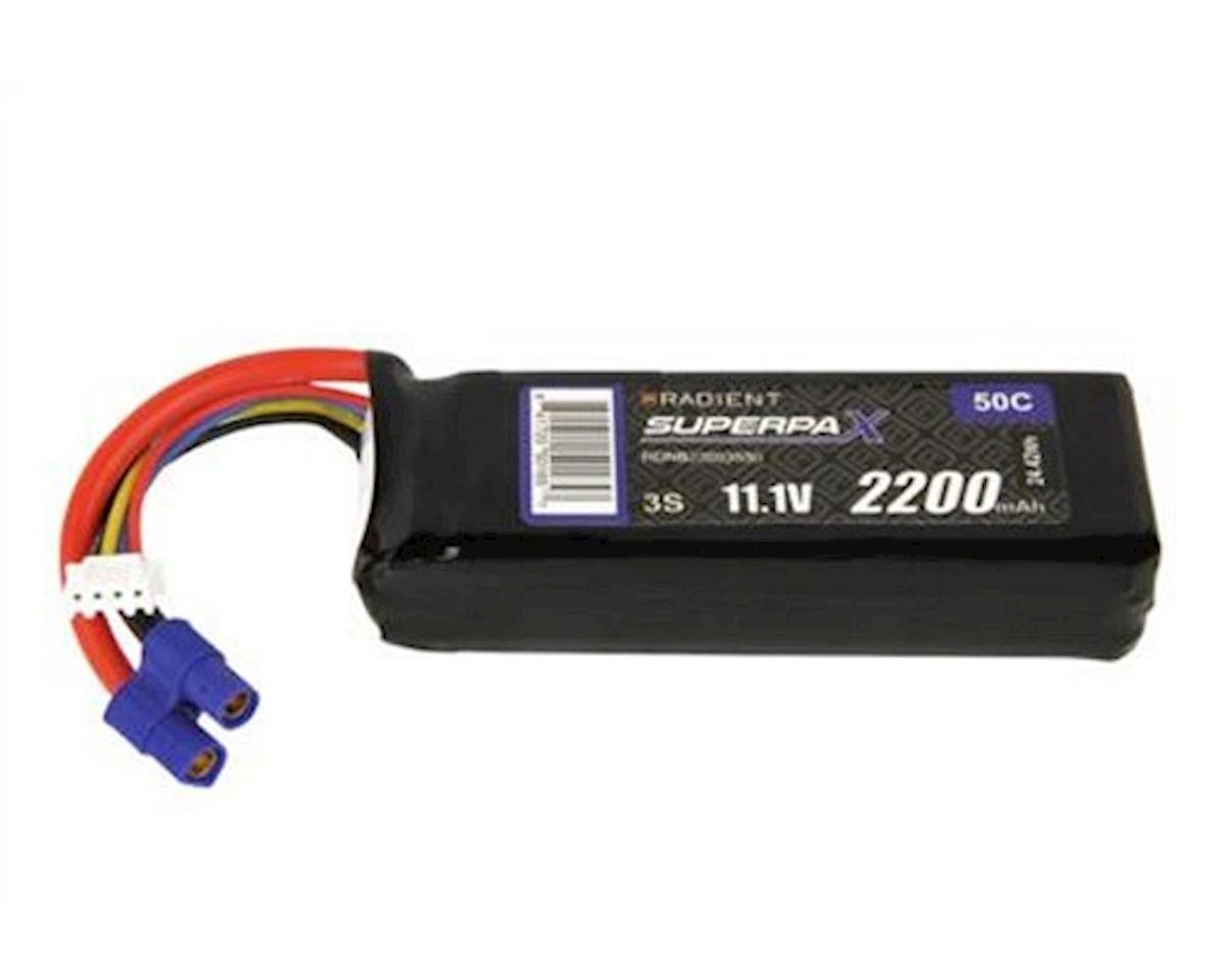 Radient 3S 50C LiPo Battery w/EC3 Connector (11.1V/2200mAh)