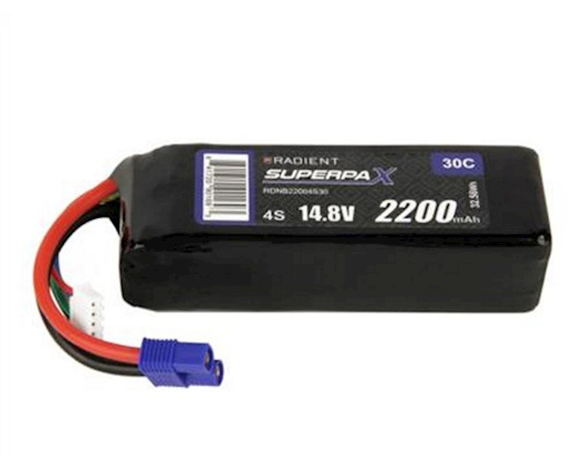 4S 30C LiPo Battery w/EC3 Connector (14.8V/2200mAh) by Radient
