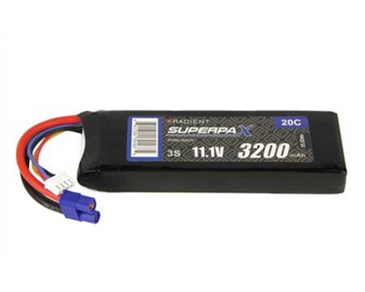 Radient 3S 20C LiPo Battery w/EC3 Connector (11.1V/3200mAh)