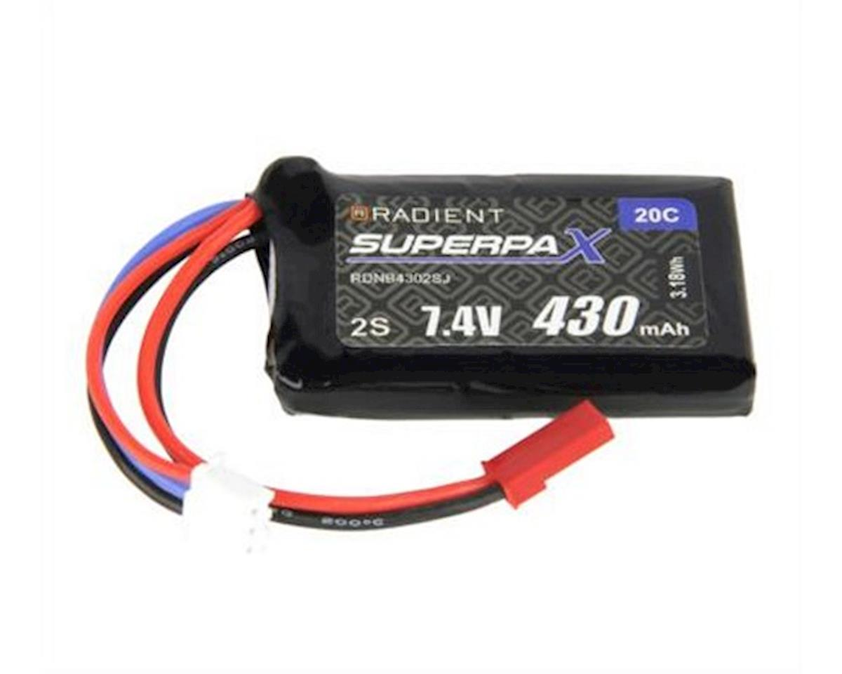 Radient 2S 20C LiPo Battery (7.4V/430mAh)