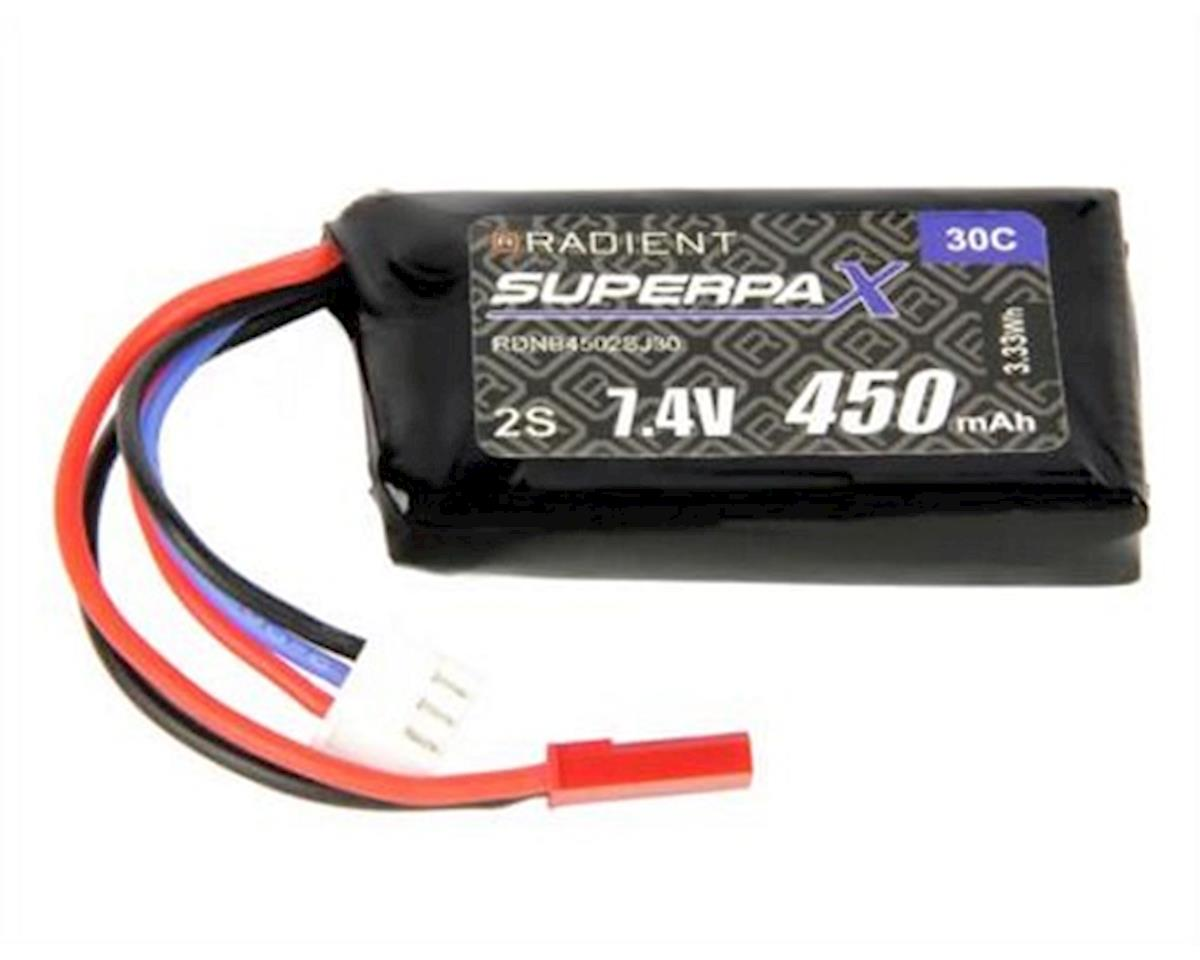 2S 30C LiPo Battery w/JST Connected (7.4V/450mAh) by Radient