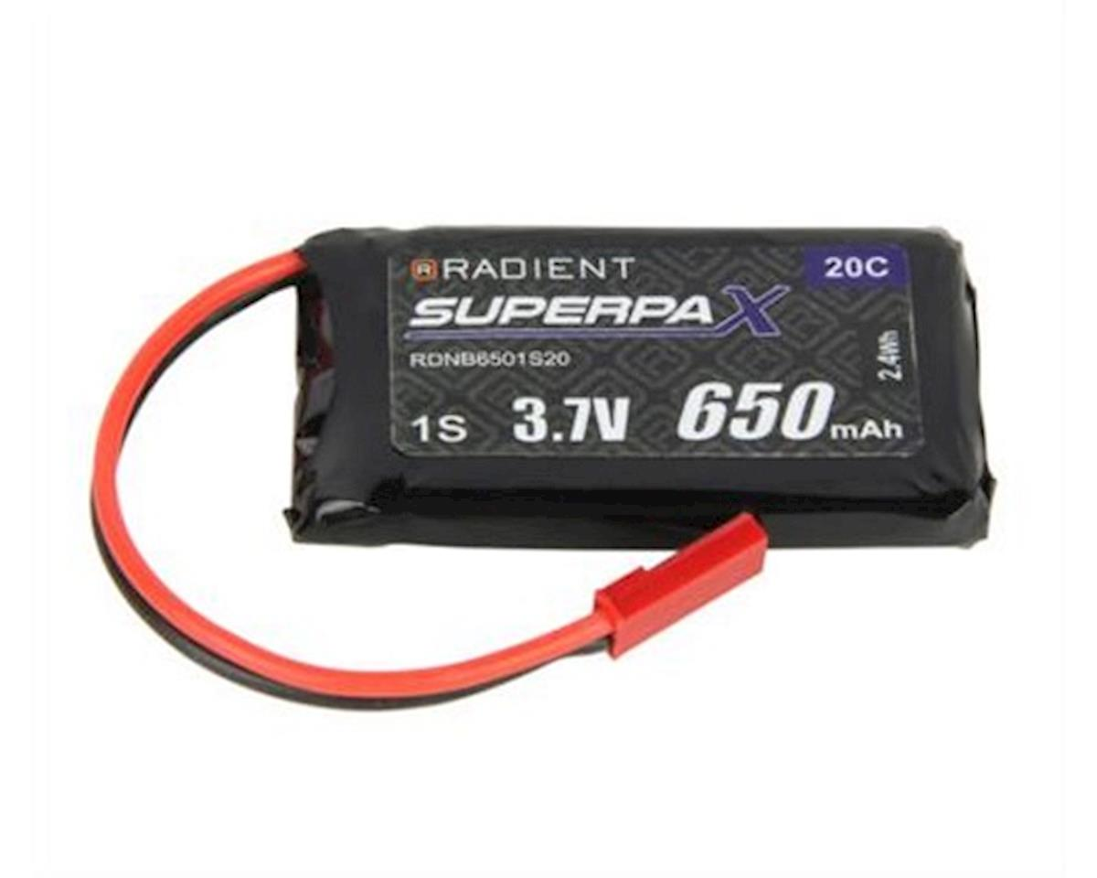 Radient 1S 20C LiPo Battery (3.7V/650mAh)