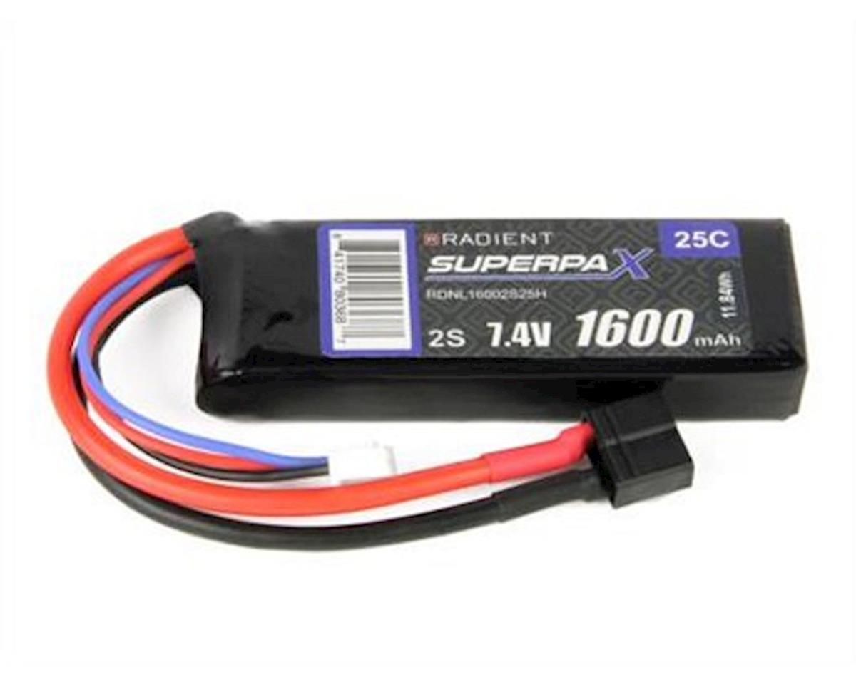 Radient 2S 25C LiPo Battery Pack w/T-Style Connector (7.4V/1600mAh)