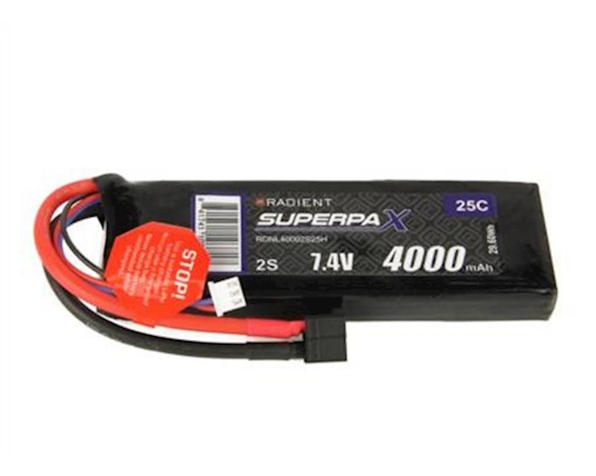 Radient 2S 25C LiPo Battery Pack w/T-Style Connector (7.4V/4000mAh)