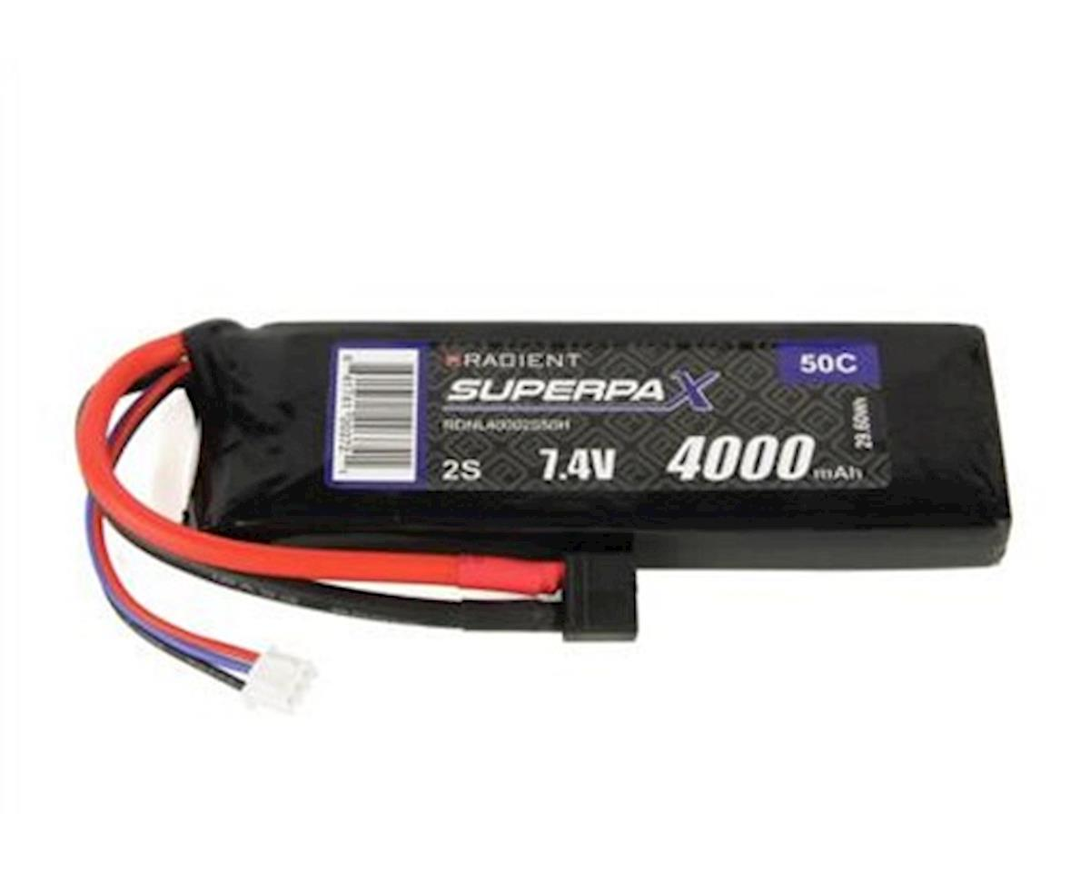 2S 50C LiPo Battery Pack w/T-Style Connector (7.4V/4000mAh) by Radient