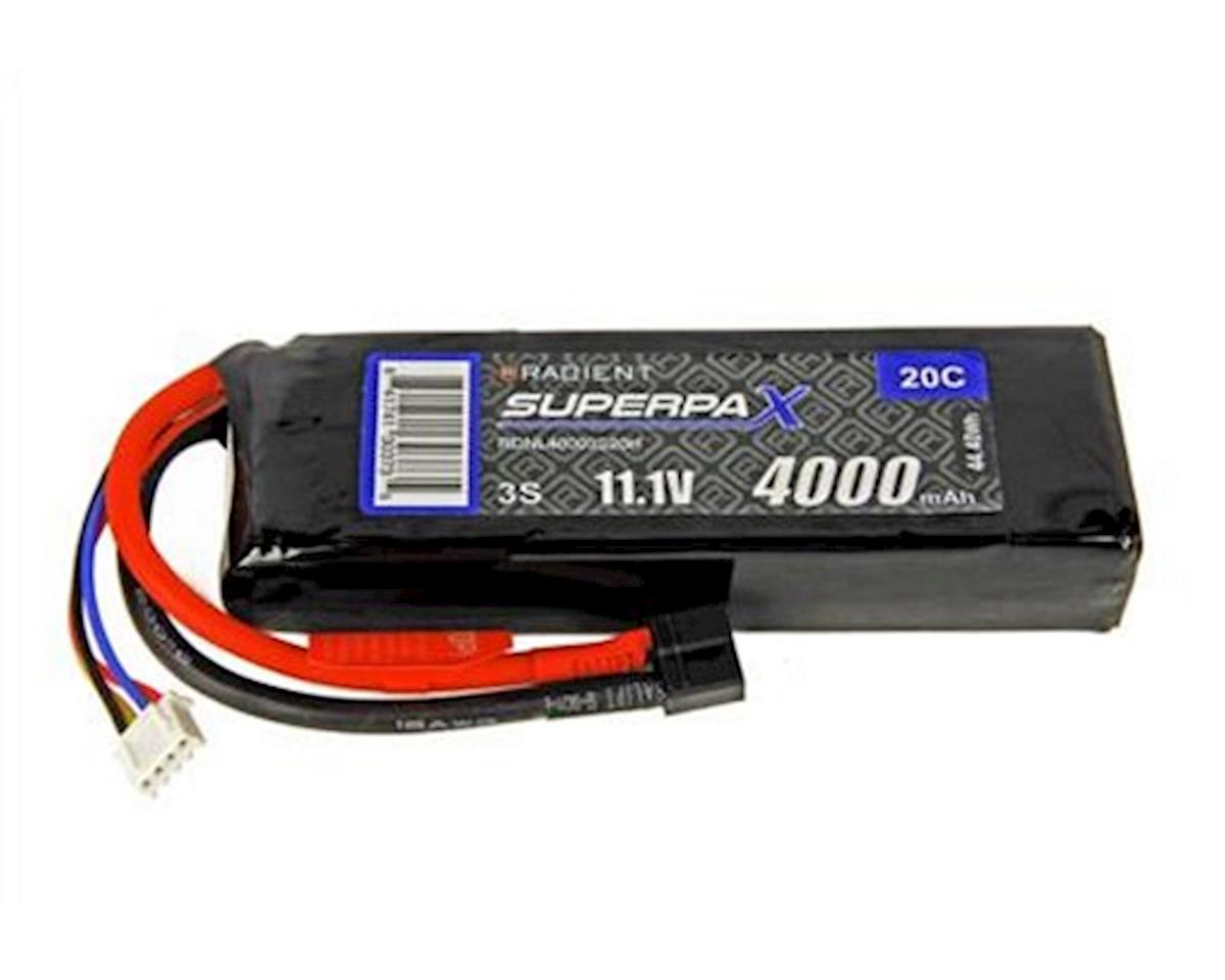 Radient 3S 20C LiPo Battery Pack w/T-Style Connector (11.1V/4000mAh)
