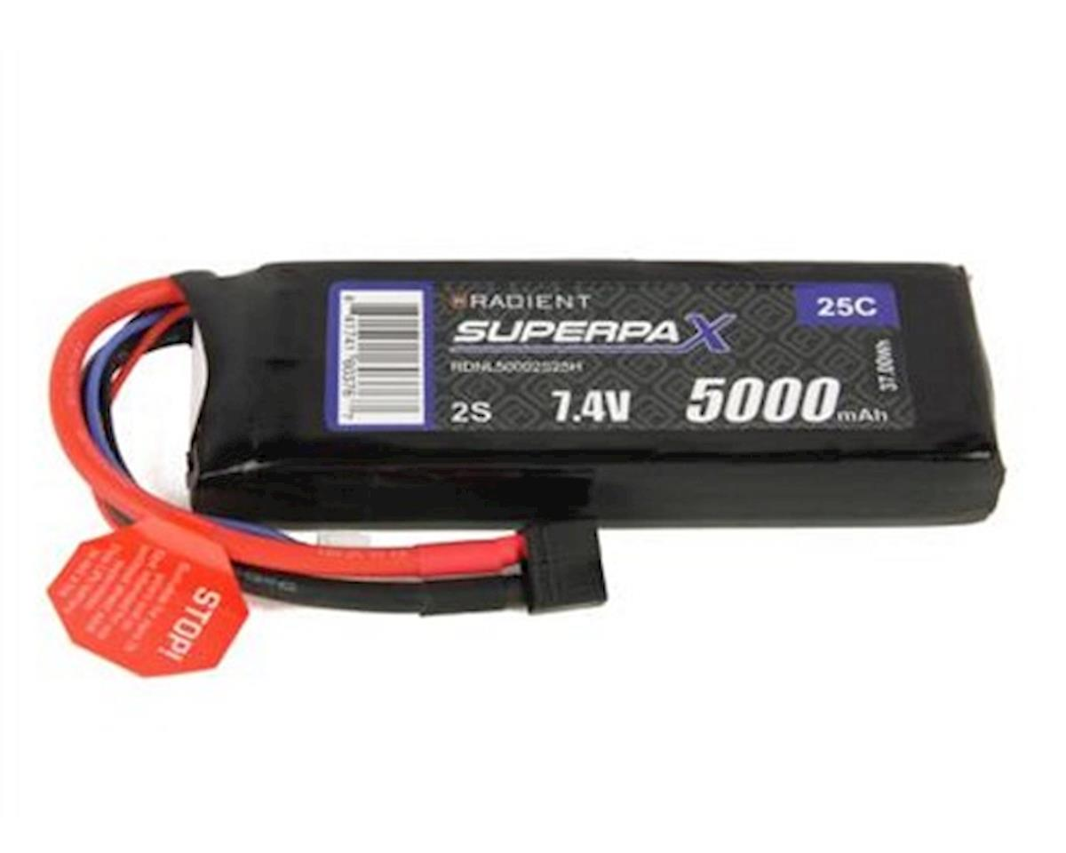2S 25C LiPo Battery Pack w/T-Style Connector (7.4V/5000mAh) by Radient