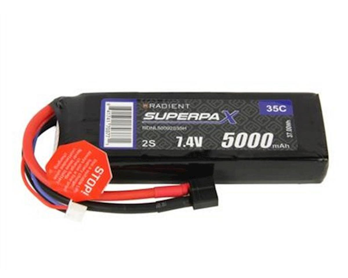 2S 35C LiPo Battery Pack w/T-Style Connector (7.4V/5000mAh) by Radient