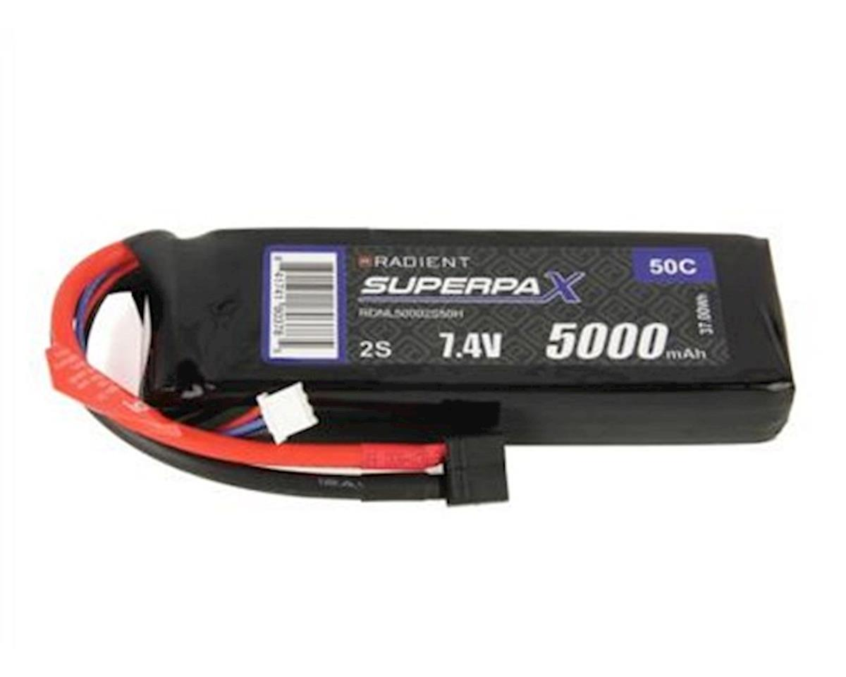2S 50C LiPo Battery Pack w/T-Style Connector (7.4V/5000mAh) by Radient