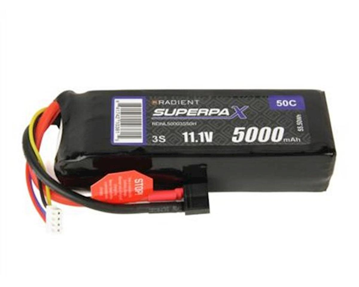 Radient 3S 50C LiPo Battery Pack w/T-Style Connector (11.1V/5000mAh)