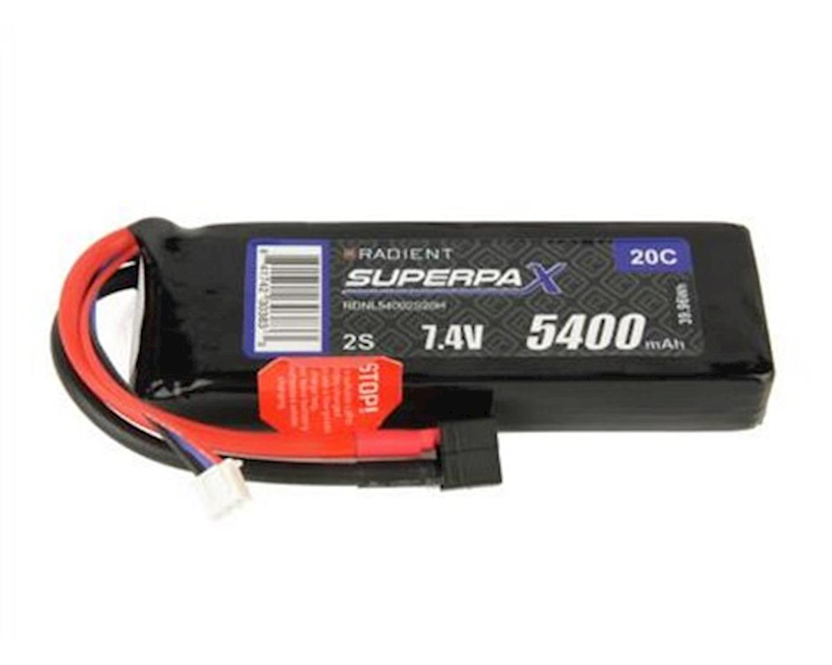 Radient 2S 20C LiPo Battery Pack w/T-Style Connector (7.4V/5400mAh)