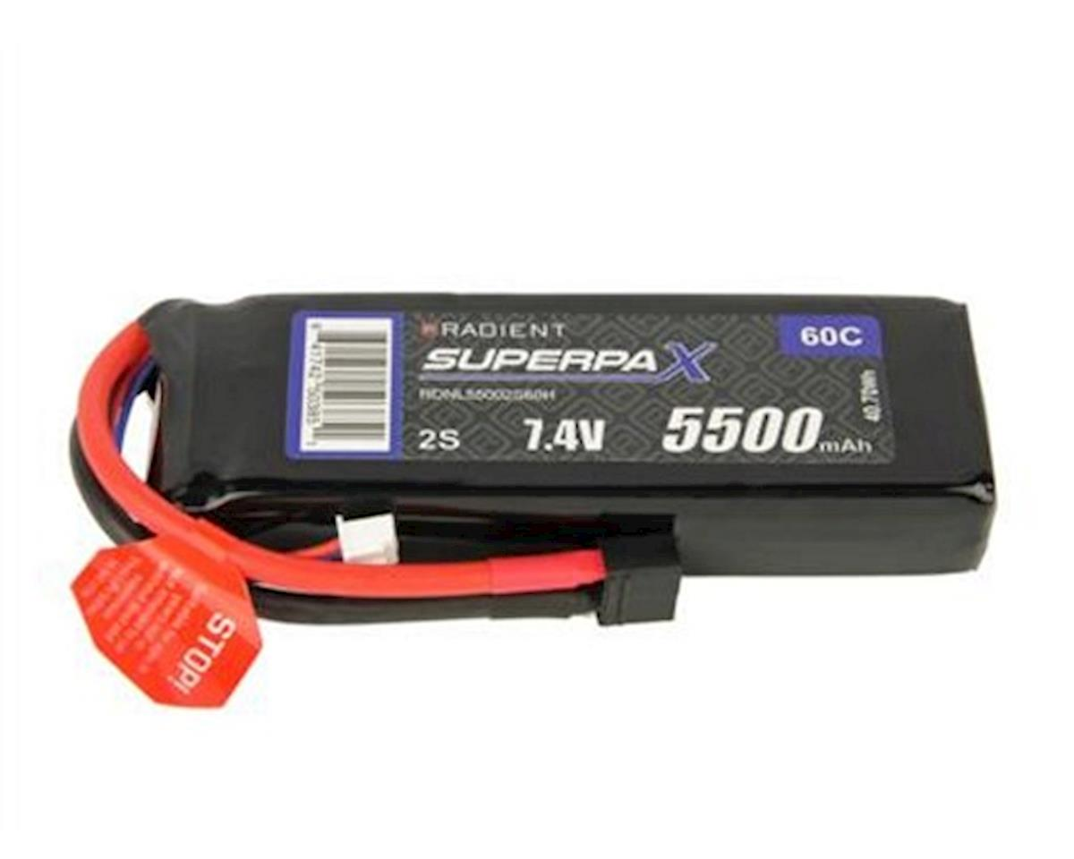 Radient 2S 60C LiPo Battery Pack w/T-Style Connector (7.4V/5500mAh)