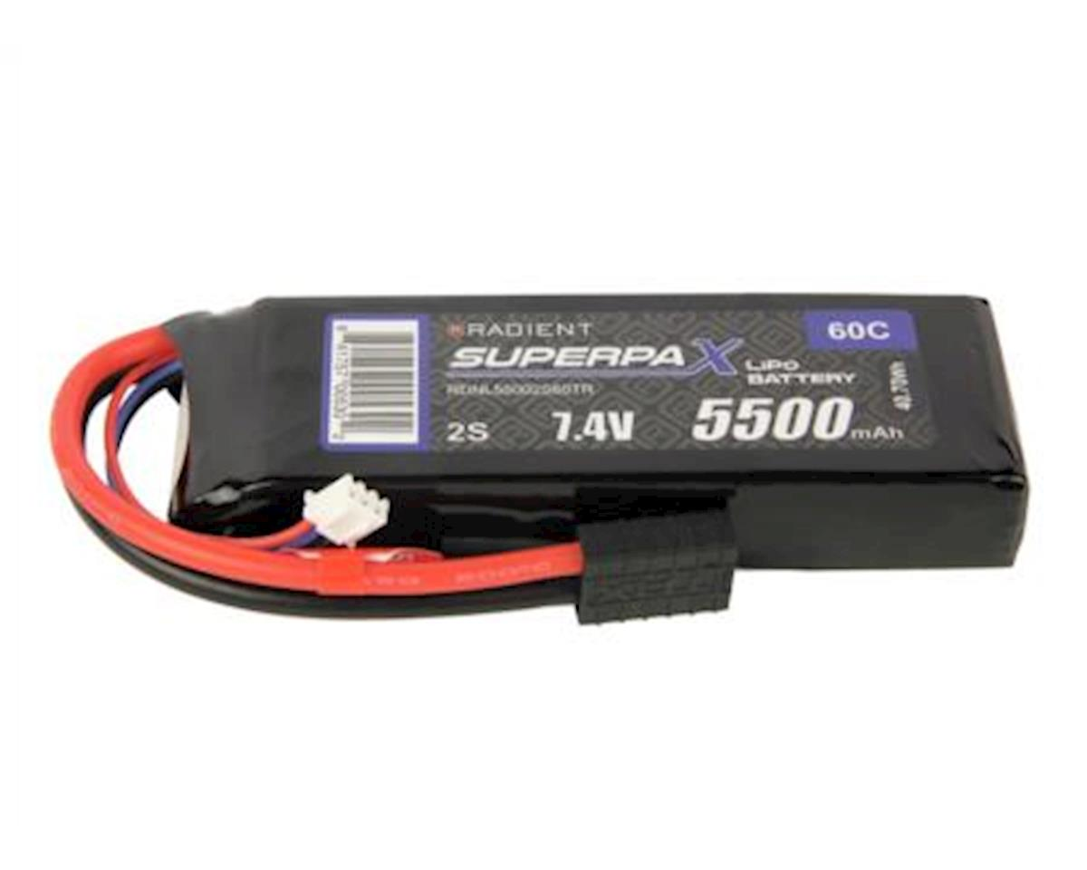 Radient 2S 60C LiPo Battery Pack w/Traxxas Connector (7.4V/5500mAh)