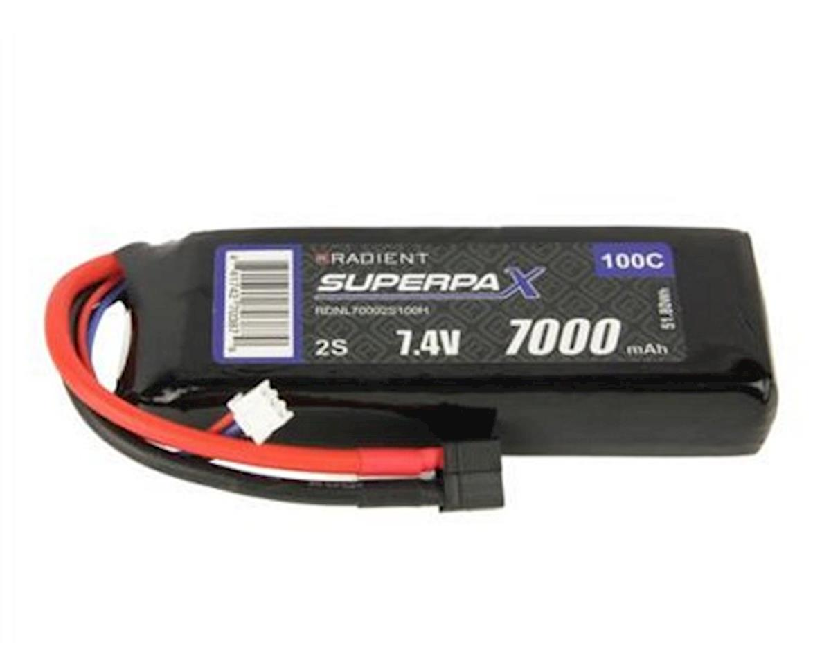Radient 2S 100C LiPo Battery Pack w/T-Style Connector (7.4V/7000mAh)