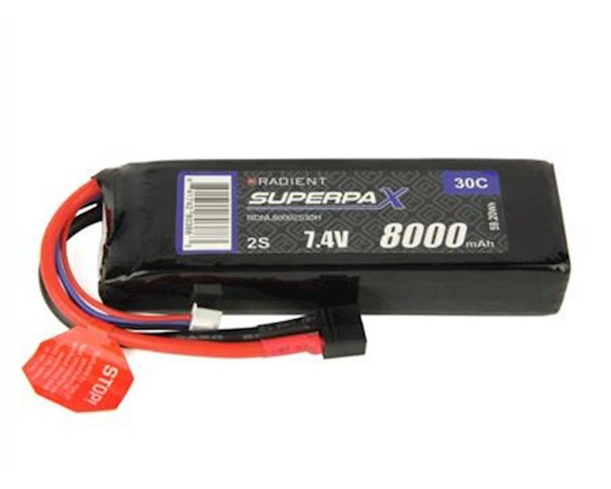 Radient 2S 30C LiPo Battery Pack w/T-Style Connector (7.4V/8000mAh)