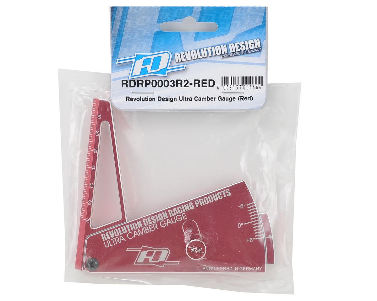 Ultra Camber Gauge R2 (Red) by Revolution Design