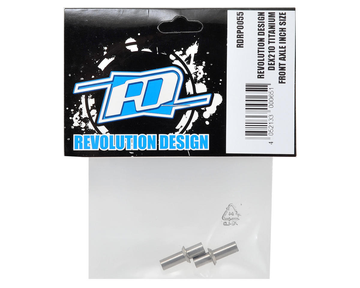 Revolution Design DEX210 Titanium Front Axle Set (Inch Size)