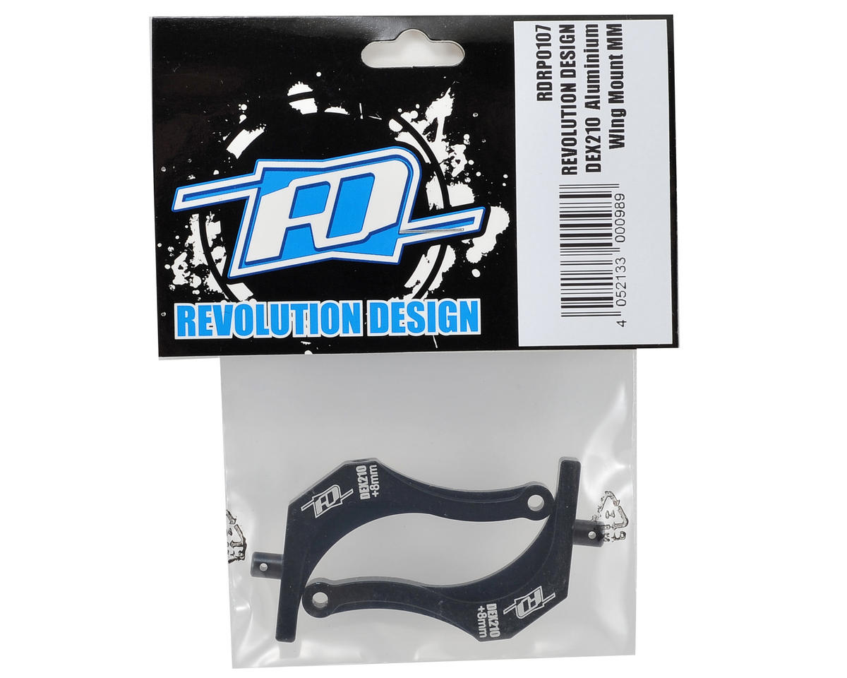 Revolution Design DEX210 Aluminum +8mm Wing Mount (Mid Motor)