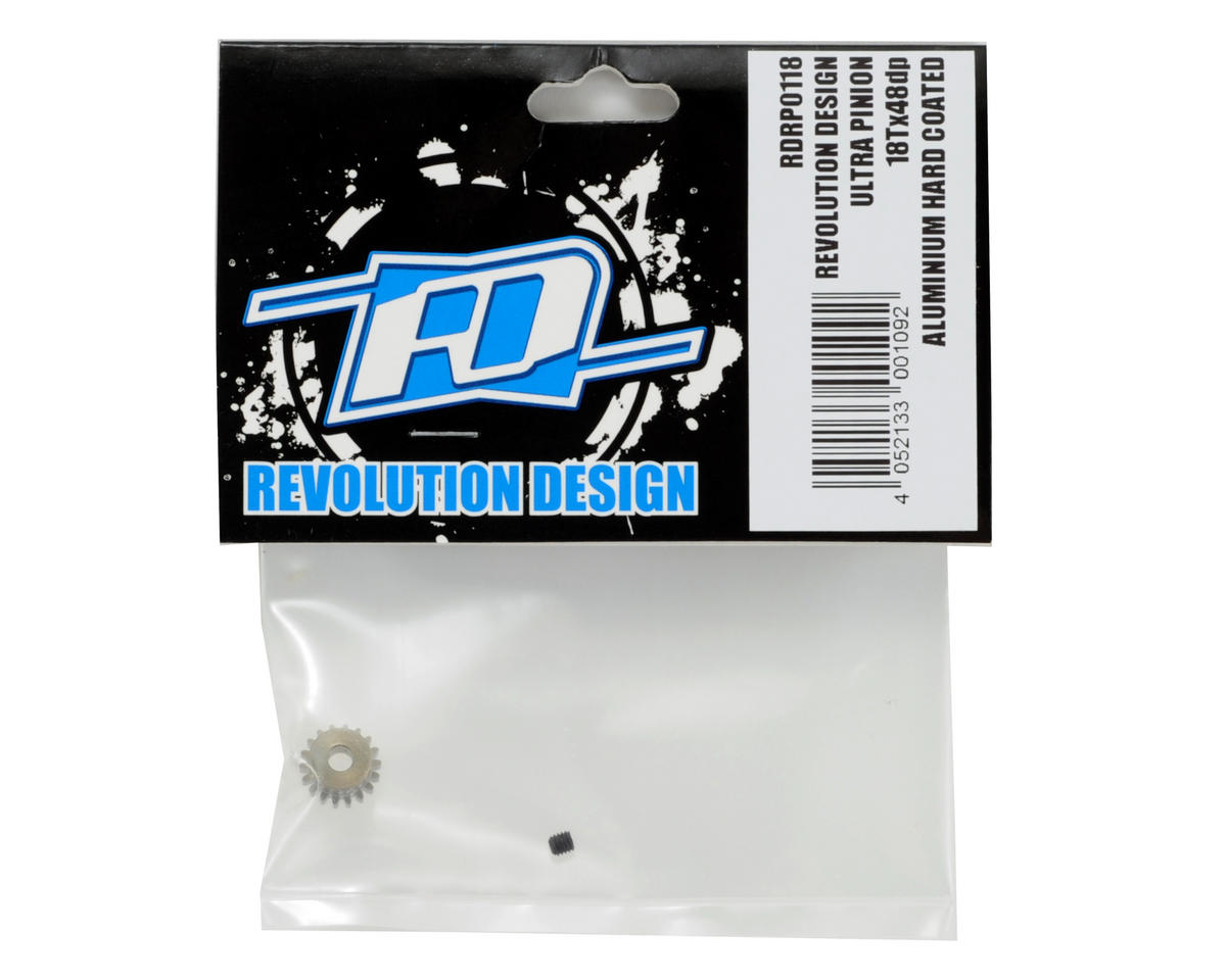 48P Aluminum Hard Coated Ultra Pinion Gear (3.17mm Bore) (18T) by Revolution Design