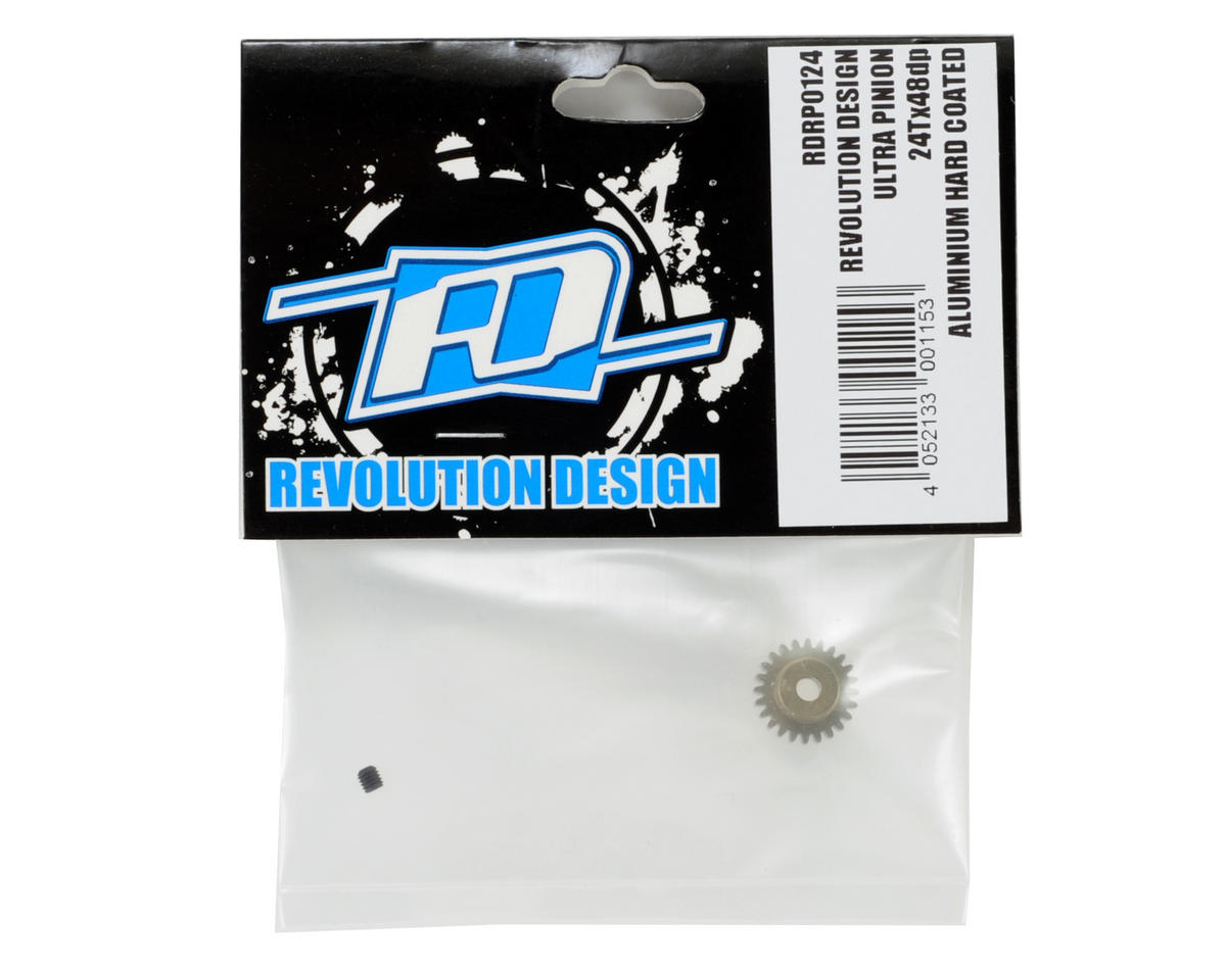 Revolution Design 48P Aluminum Hard Coated Ultra Pinion Gear (3.17mm Bore) (24T)