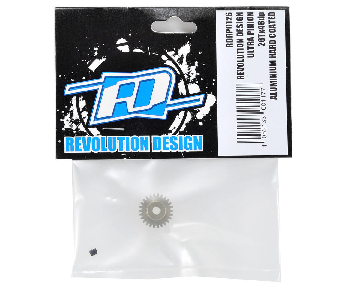 Revolution Design 48P Aluminum Hard Coated Ultra Pinion Gear (3.17mm Bore) (26T)